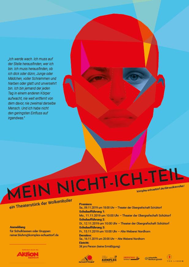 """<b>09.11.2019</b><br>18:00 Uhr<br><b>Premiere MEIN NICHT-ICH-TEIL,  """"WolkenRoller"""" im Theater der Obergrafschaft</b>"""