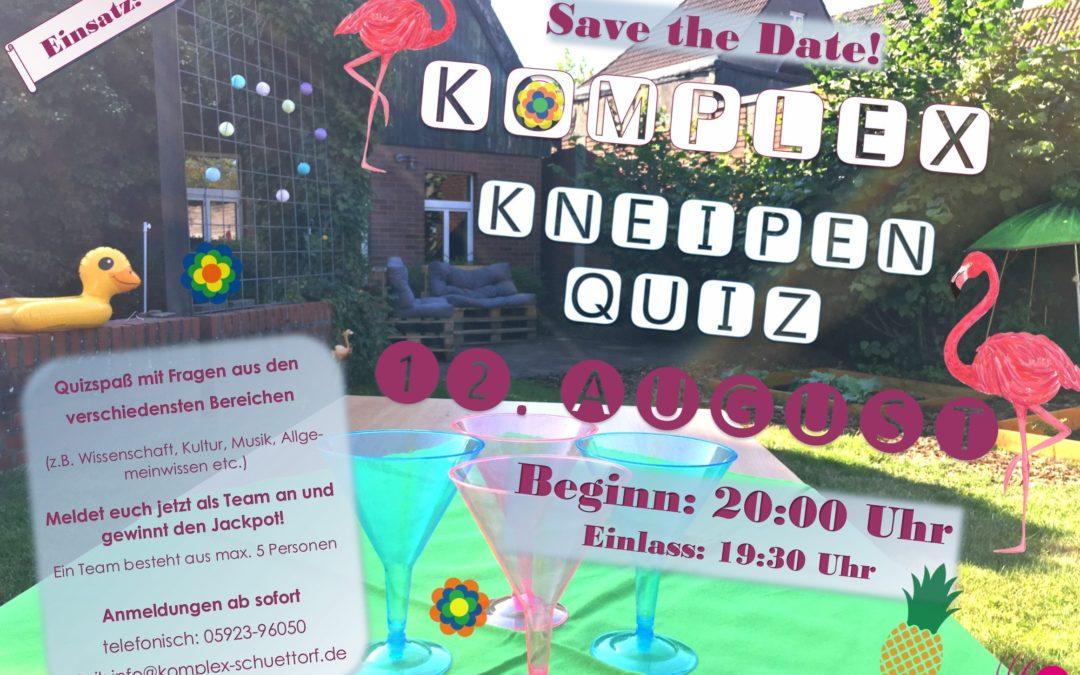 12.08.202019:30 UhrKomplex Kneipen QuizIm Biergarten
