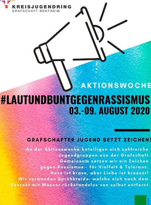 03.08.2020-09:08.2020Aktionswoche: Laut und Bunt gegen RassismusGrafschafter Jugend setzt Zeichen!