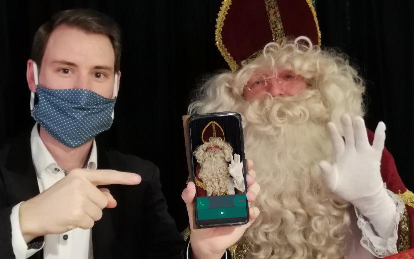 WhatsApp Videoanruf vom Nikolaus – Hoher Besuch im Komplex am 6. Dezember
